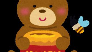 ハチミツを抱えたクマ