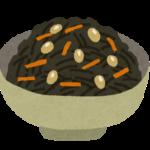 ひじき煮のイラスト