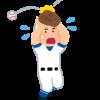 フライを落とす野球選手