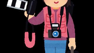 女性カメラマンのイラスト