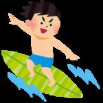 サーフィンをする男