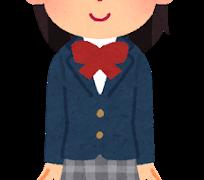 かわいい女子学生(いらすとや)
